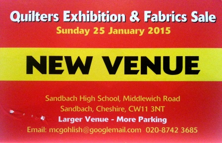 tracy fox Quilters Exhibition Sandbach Jan 2015