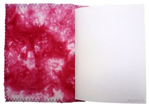 hand made book using hand dyed fabric from the Colour Collection by t r a c y f o x