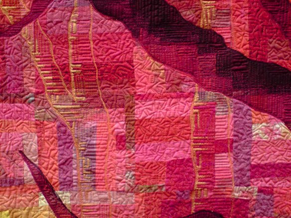 Lisa Walton Bushfire Sunset Quilt stitching