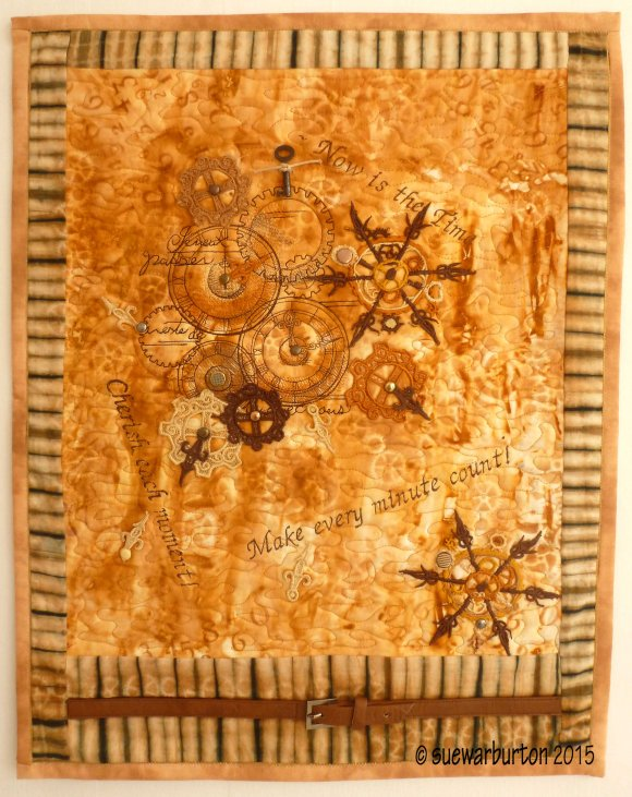 made by Sue Warburton with Rust fabric by t r a c y f o x