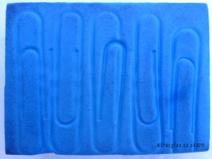 Blue Foam Print Block large paperclips by t r a c y f o x