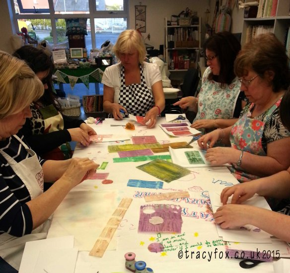 Class at Patchwork Parade Painted Fusible creating 1