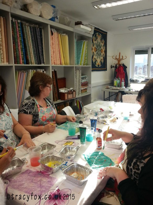 Class at Patchwork Parade Painted Fusible painting 1