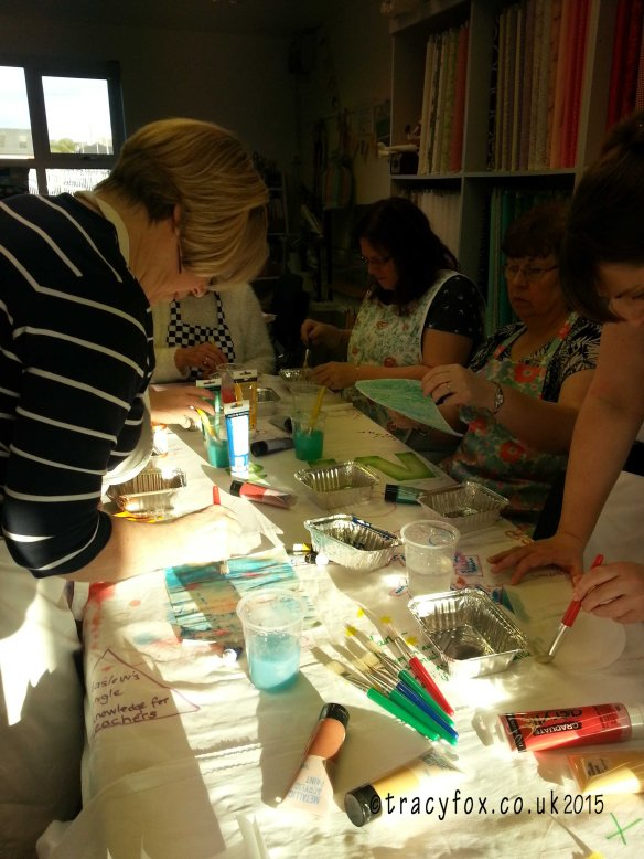 Class at Patchwork Parade Painted Fusible painting 2