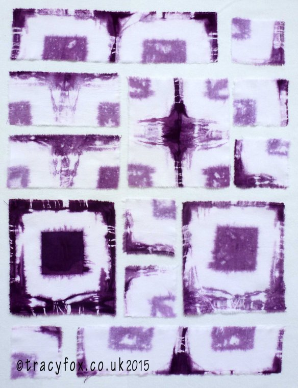 On My Wall Hand Dyed Purple Shibori 1 by t r a c y f o x