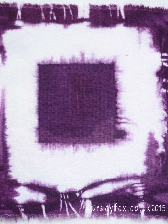 On My Wall Hand Dyed Purple Shibori 3 by t r a c y f o x