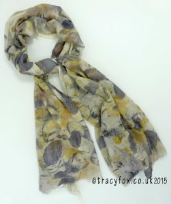 2015 Sept 14 Eco Printing Cotton Scarf 1 t r a c y f o x