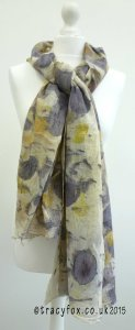 2015 Sept 14 Eco Printing Cotton Scarf 2 t r a c y f o x