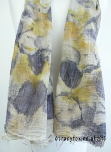 2015 Sept 14 Eco Printing Cotton Scarf 3 t r a c y f o x