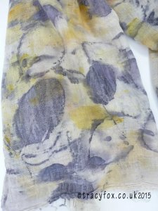 2015 Sept 14 Eco Printing Cotton Scarf 4 t r a c y f o x