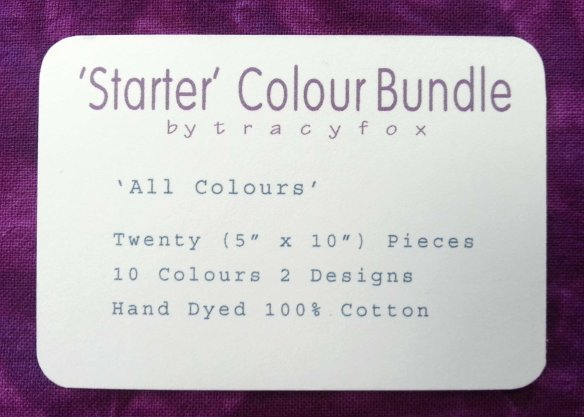 2015 Oct 09 Starter Colour Bundles label t r a c y f o x