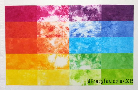 2015 Oct 12 Starter Colour Bundle Quilt layout t r a c y f o x