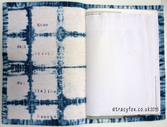 2015 Oct 19 A Shibori Journey Book Inside Cover t r a c y f o x