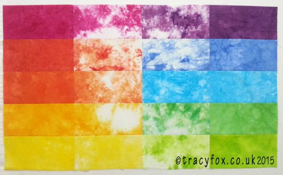 2015 Oct 25 Starter Colour Bundle Quilt Pieced 9 t r a c y f o x