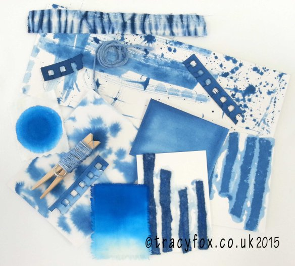2015 Oct 30 Shibori Journey Progress 1 t r a c y f o x