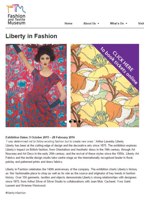 2016 Mar 24 Fashion and Textile Museum 2 t r a c y f o x
