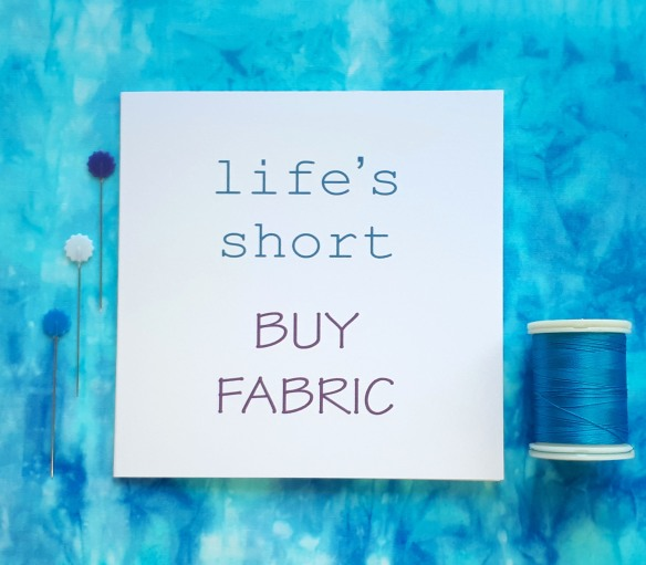 creative quote life's short buy fabric handmade cards by tracy fox