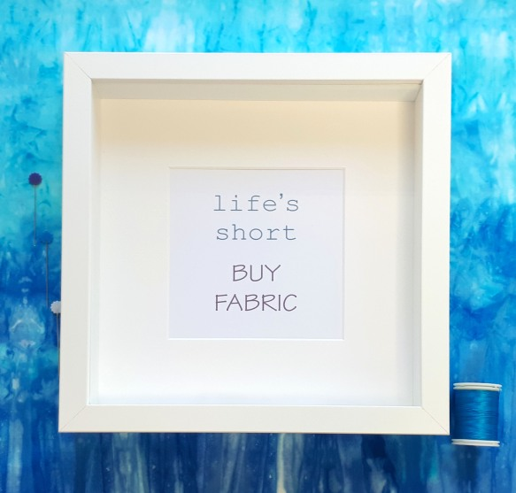 framed creative quote life's short buy fabric handmade cards by tracy fox