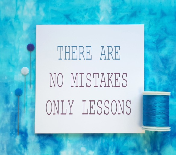 creative quote there are no mistakes only lessons handmade cards by tracy fox