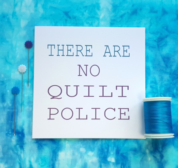 creative quote there are no quilt police handmade cards by tracy fox