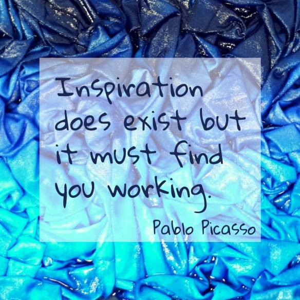 inspiration must find you working pablo picasso
