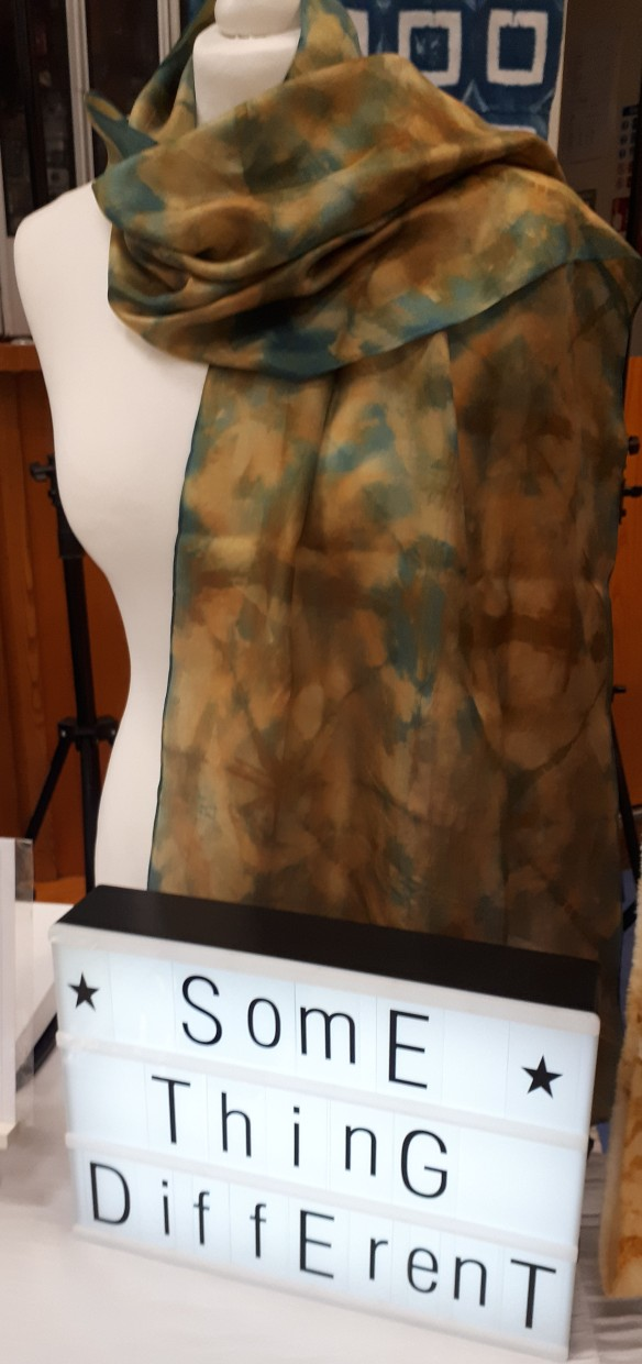 tracy fox textile artist handdyed scarves